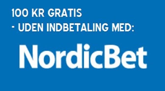 NordicBet tilbyder free bet på 100 kr. uden krav om indskud!